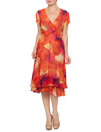 Image for Printed Chiffon Dress from StoreName