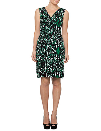 Image for Sleeveless Animal Print Jersey Dress from StoreName