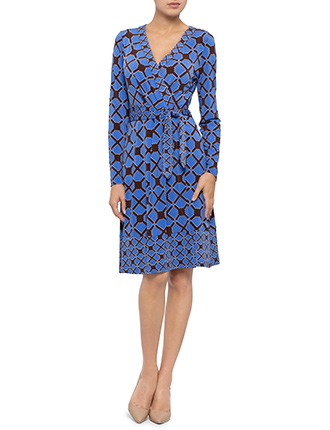 Image for L/S Peggy Sue Jersey Wrap Dress from StoreName