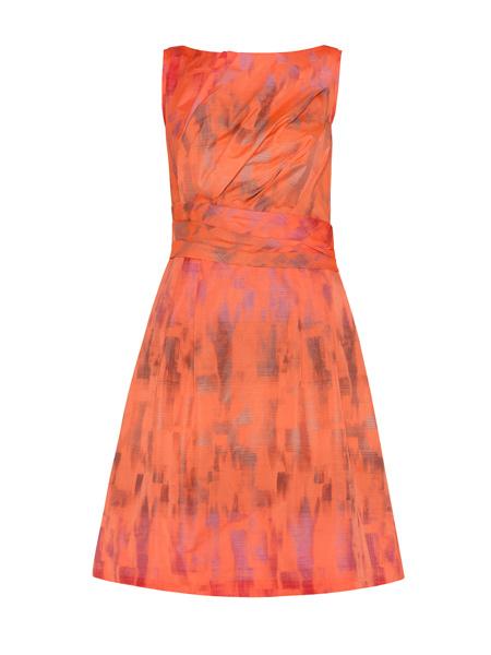 Paint Wash Taffeta Dress