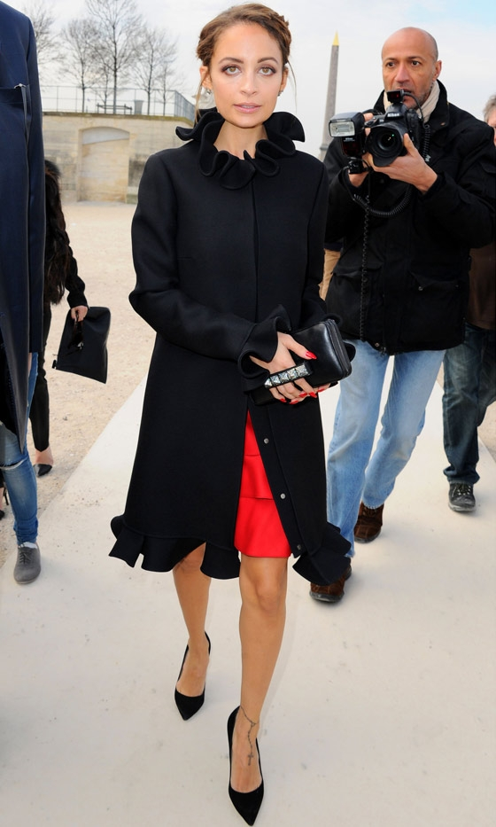 Nicole Richie At The Valentino AW13 Show At Paris Fashion Week, 2013