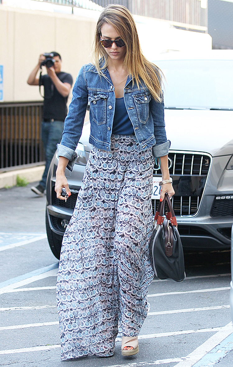 Jessica Alba arriving at Baby2Baby  April 11, 2013 X17online.com