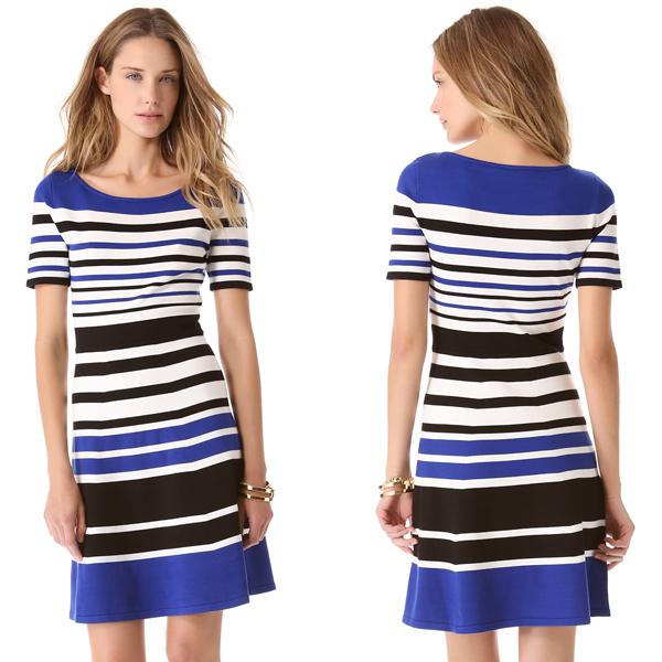 BCBGMaxAzria-Short-Sleeve-Stripe-Dress