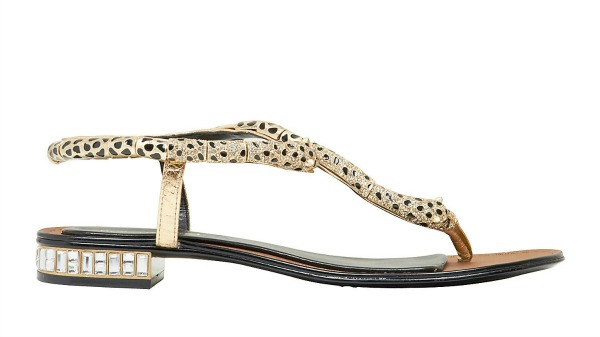 Boutique 9 Byebabe sandals with metallic python ankle strap/