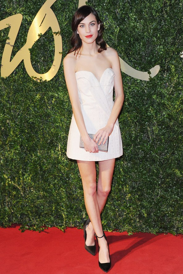 British Fashion Awards 2013 Alexa Chung