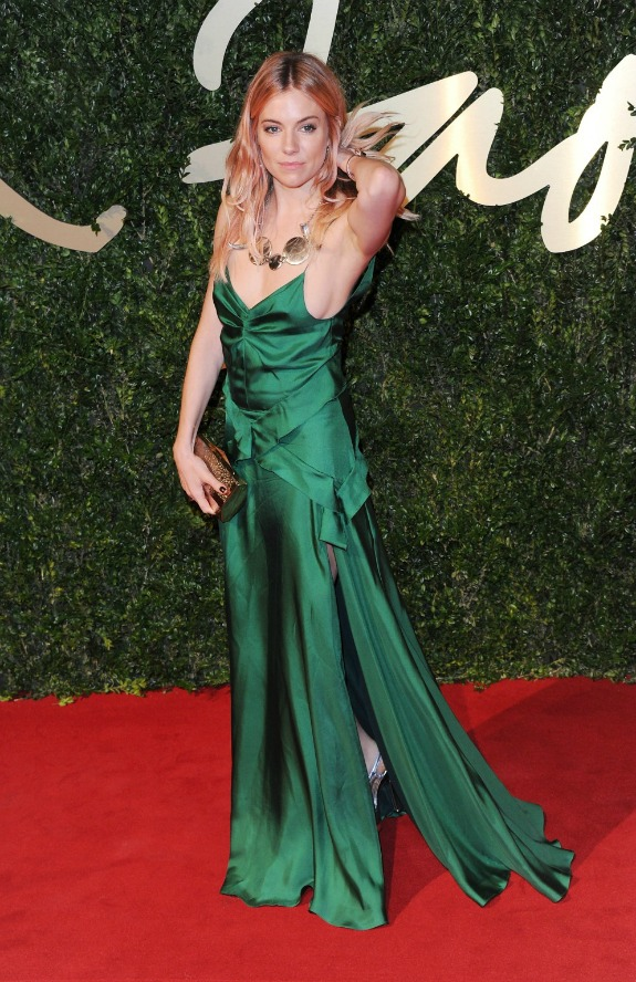British Fashion Awards 2013 Sienna Miller