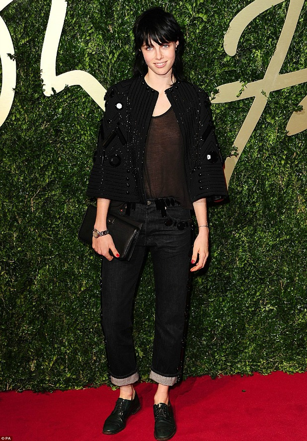 British Fashion Awards 2013 Edie Campbell