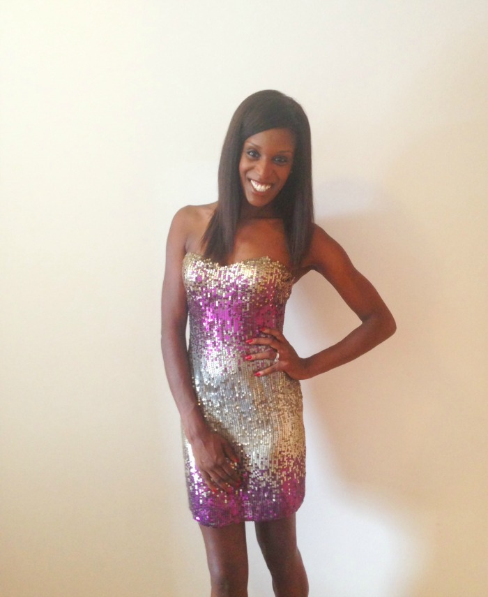 Shail K sequin dress - What I Wore NY Eve