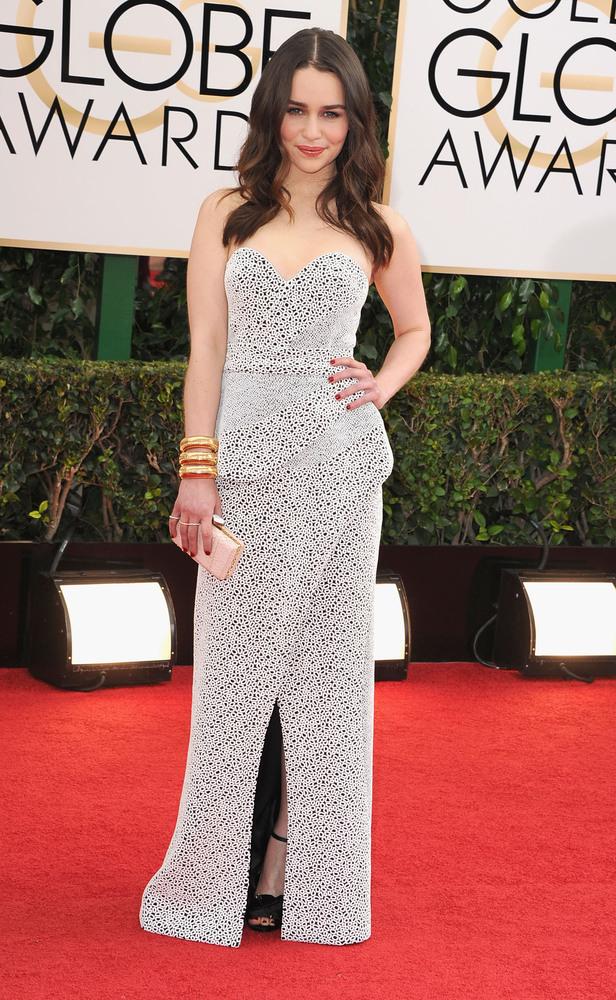 Emilia Clarke golden globes 2014 best dressed