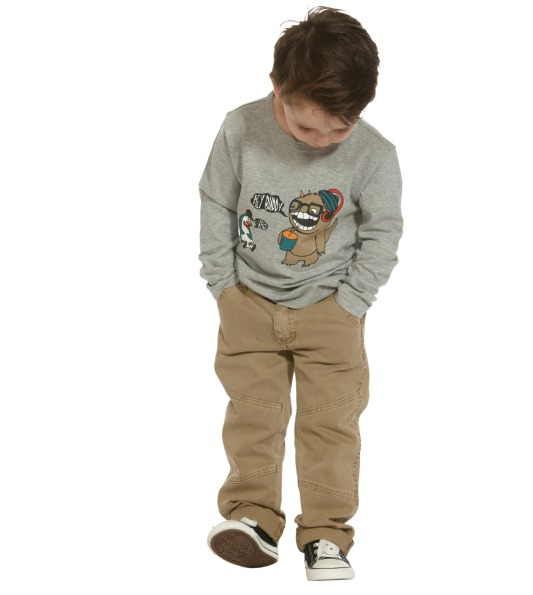 The Kidstore Boys Graphic Tee $25, Cargo Pants$40