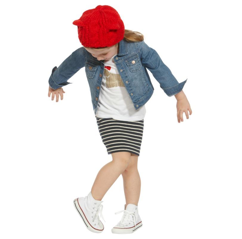 Denim Jacket $45, Embellished Tee $25 & Tube Skirt $20