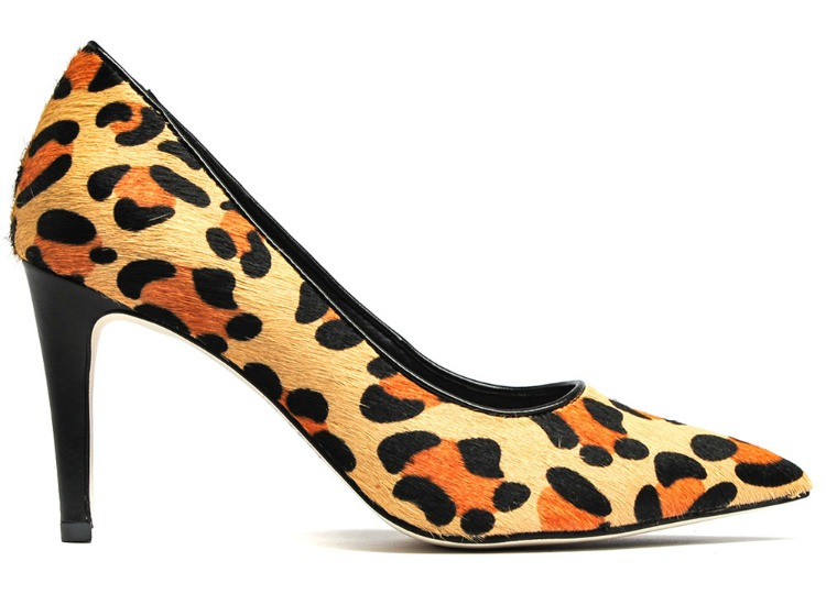 mollini lions leopard pump