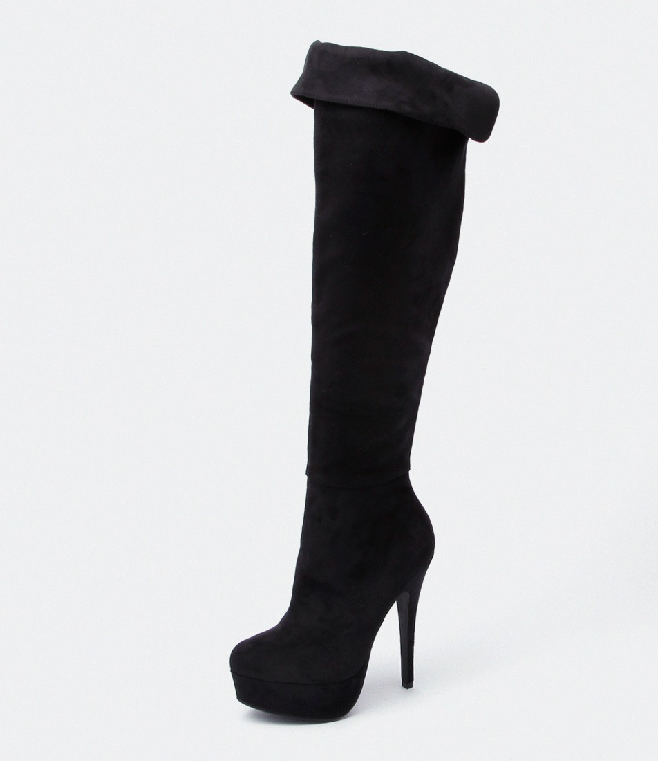 10 Must Have Ankle Boots from Styletread - Virali Black Micro Suede