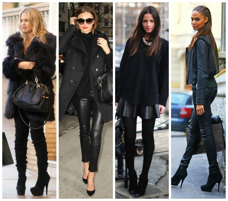 All Black Everything - Winter Style Inspo