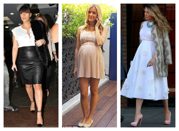 How to Wear a High Waisted Skirt When Pregnant