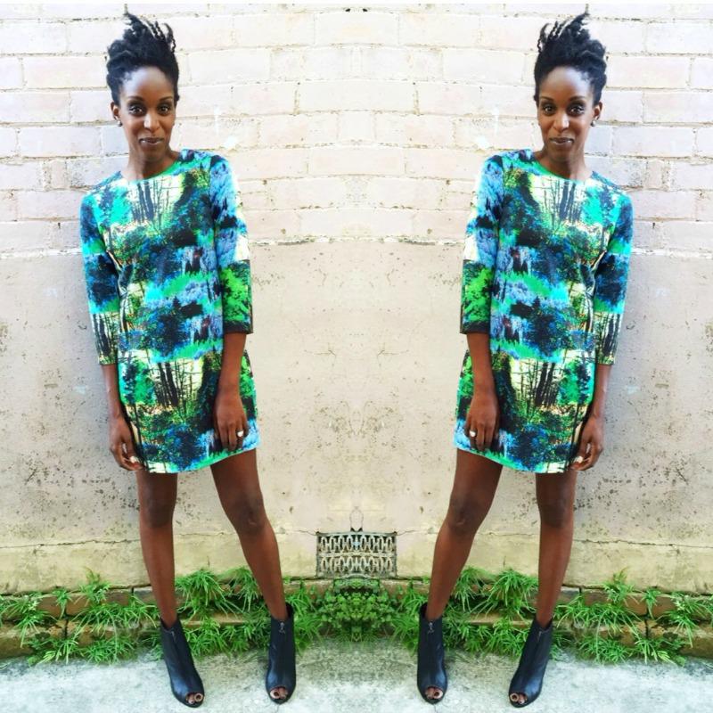 My Style: Boohoo Digital Print Dress