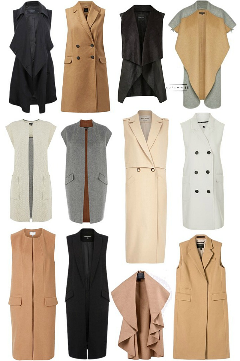 Trending: Sleeveless Coats 2015