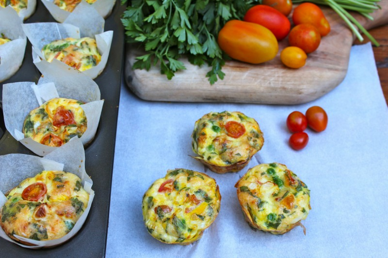 Kids Recipes: Mini Vegetable Frittatas