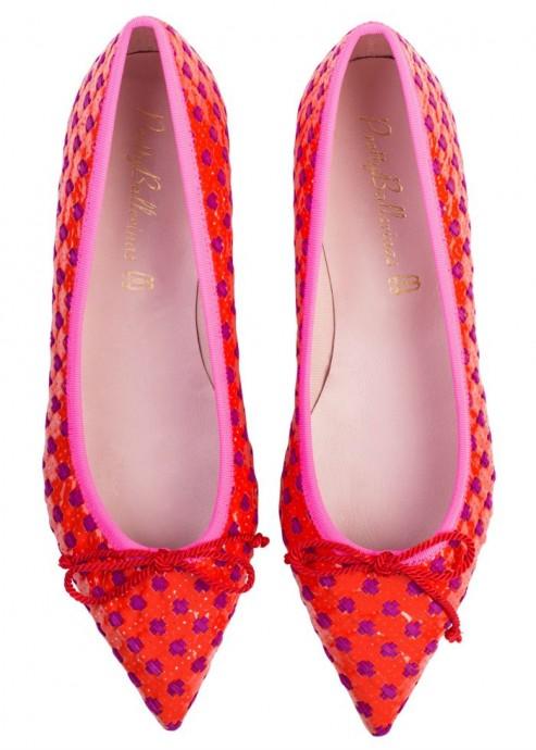 43818.E_top Pink Patent Woven Flats $410.00