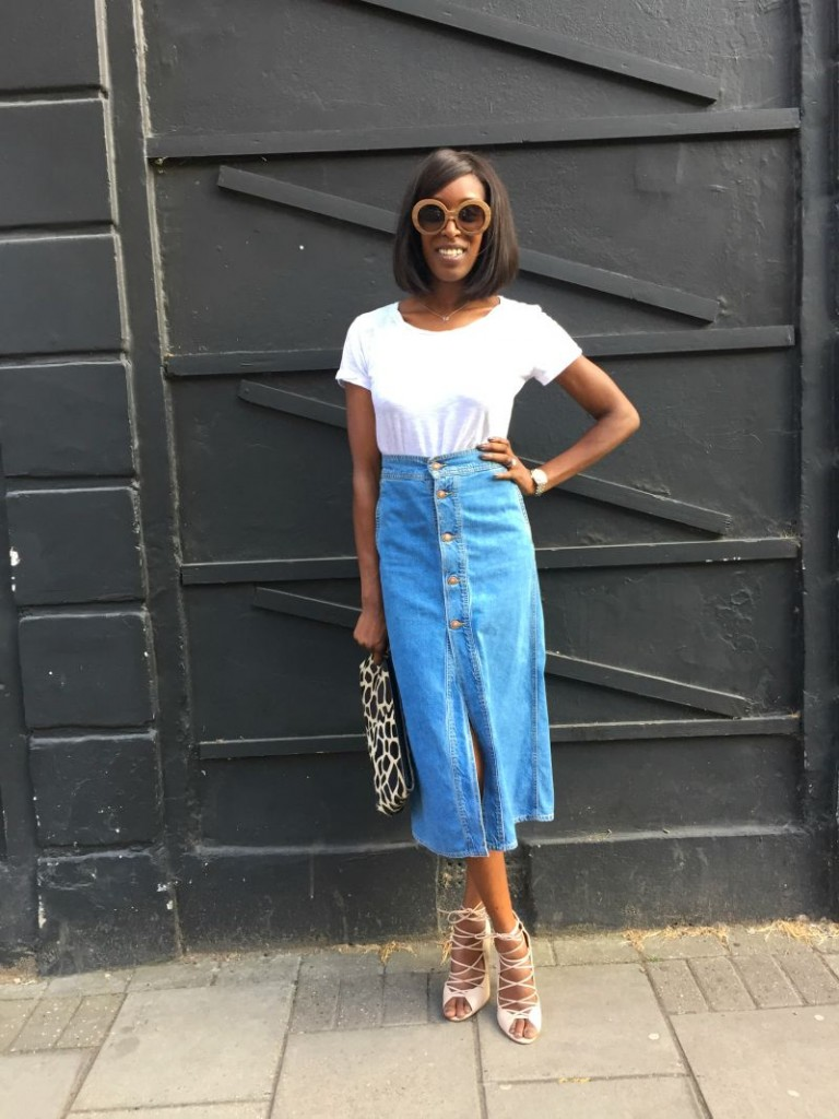 My Style: The Denim Midi Skirt