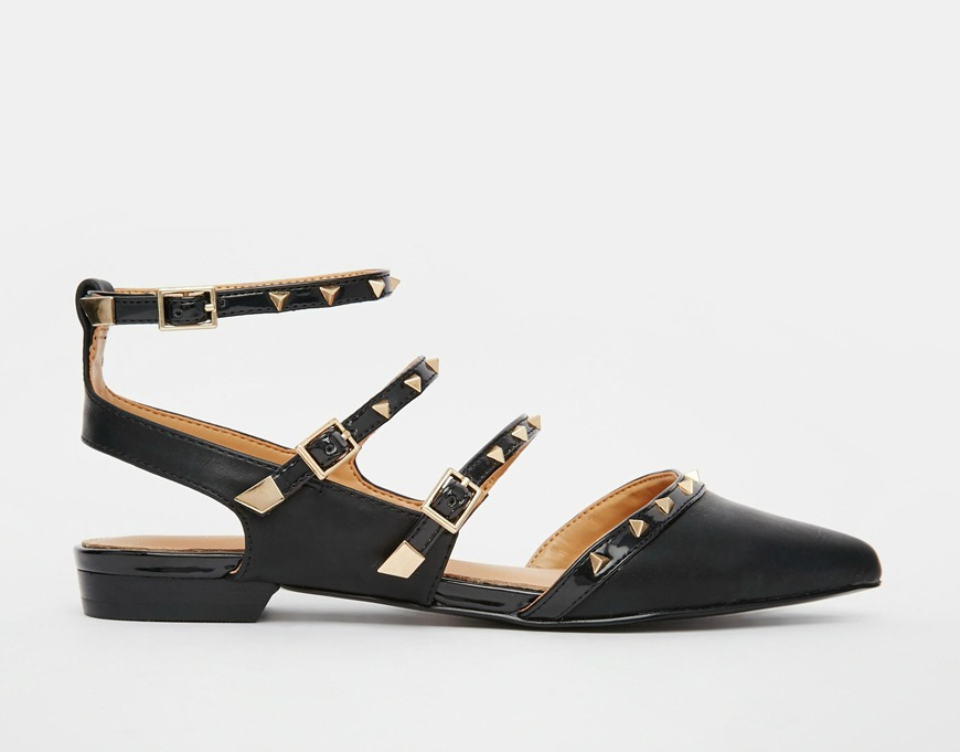 Aldo Zerah Studded Flat Black Shoes $106