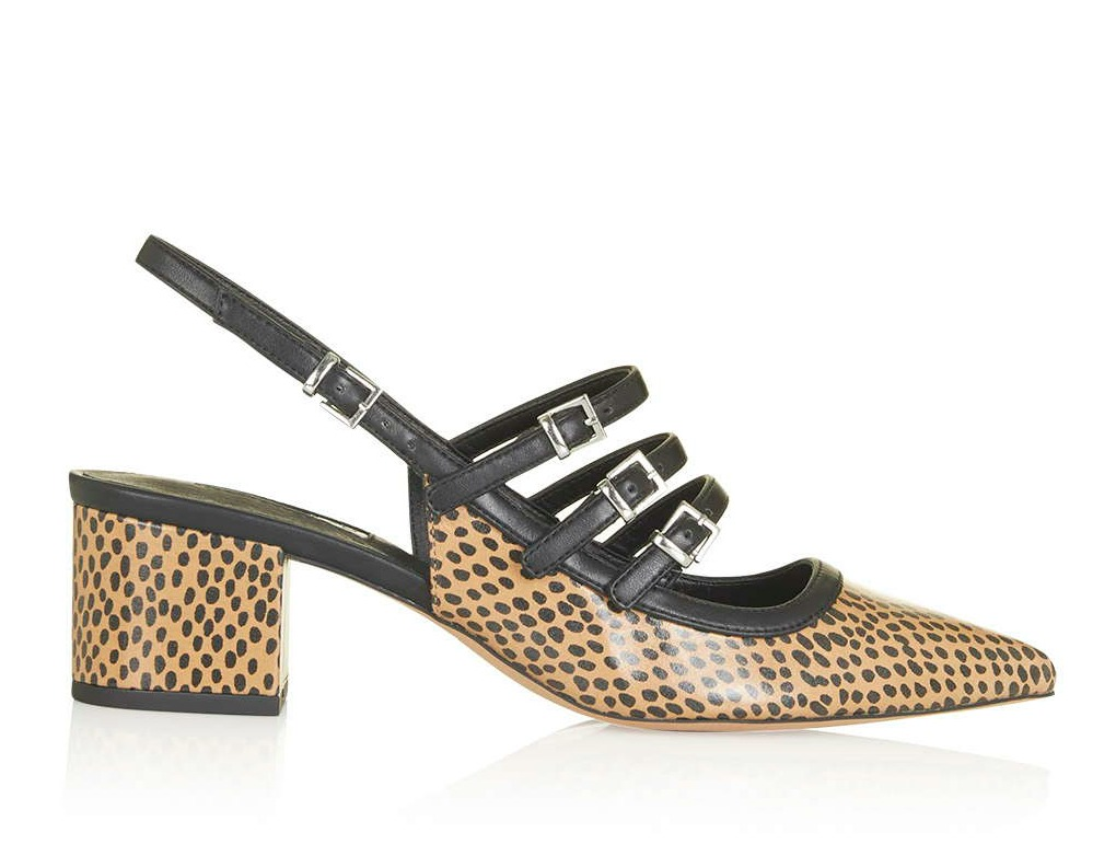 Topshop Java Croc Sling-Backs $92.65