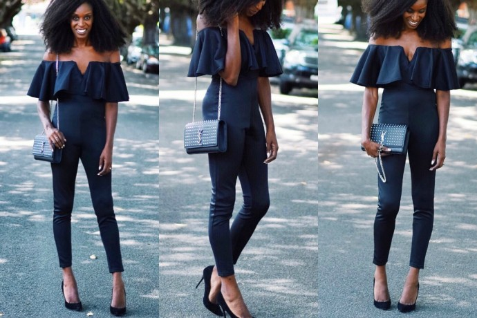 Boohoo Penny Plunge Frill Jumpsuit