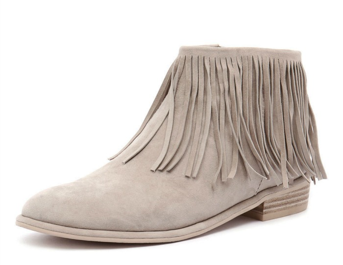 Shoesday: Top End Leeza Fringed Ankle Bootie