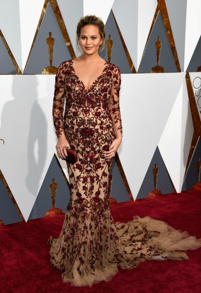 Chrissy Teigan in Marchesa