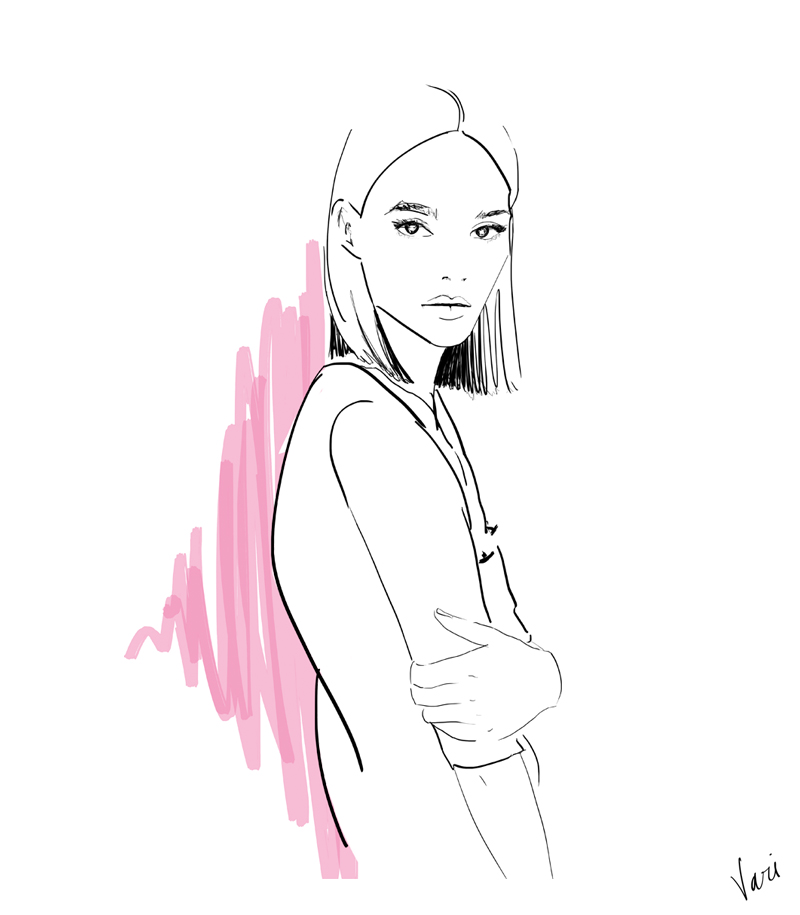 Vari Longmuir Illustration - Blunt Bob Girl