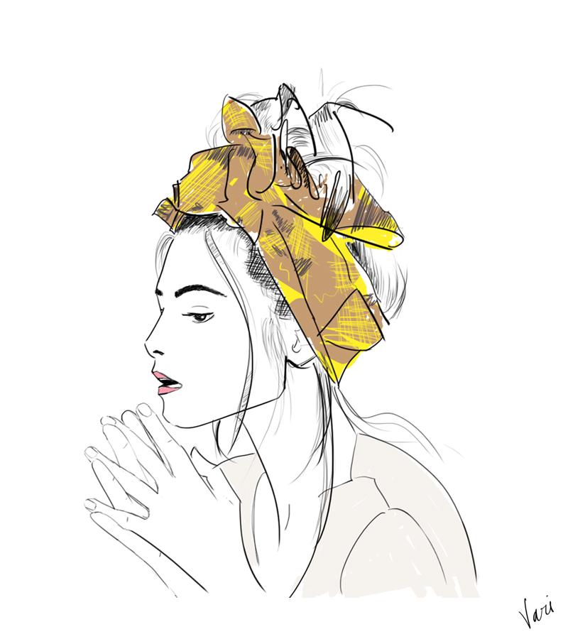 Vari Longmuir Illustration - Headscarf Girl