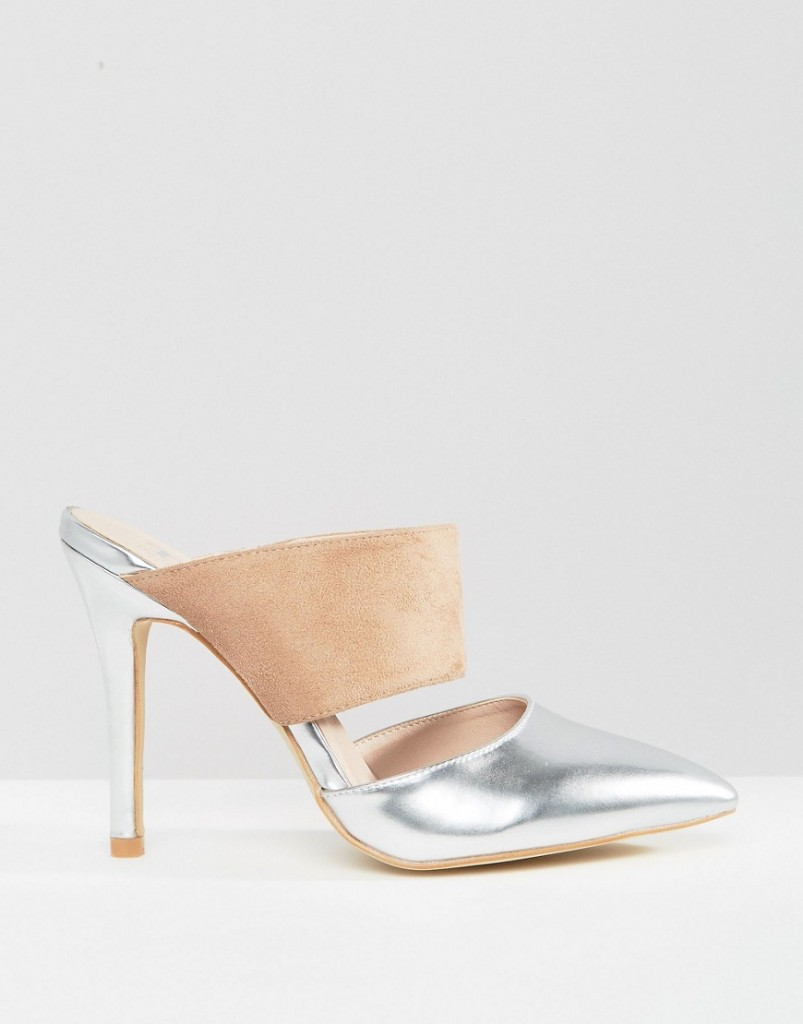 True Decadence Metallic Mules $61