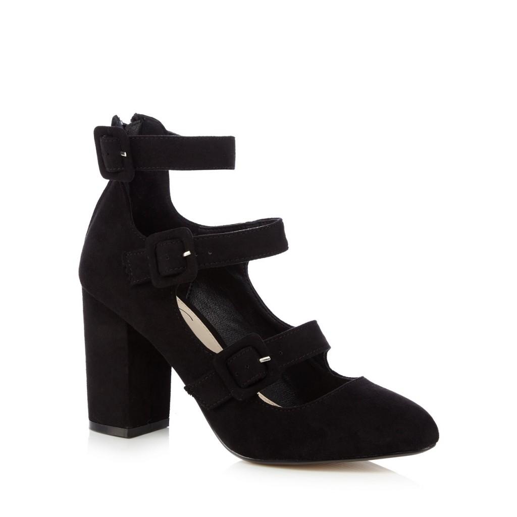Nine by Savannah Miller Black Sinead Buckle Strap Court Shoe $79.80