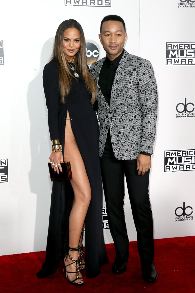 Chrissy Teigan wears Yousef Akbar to the American Music Awards