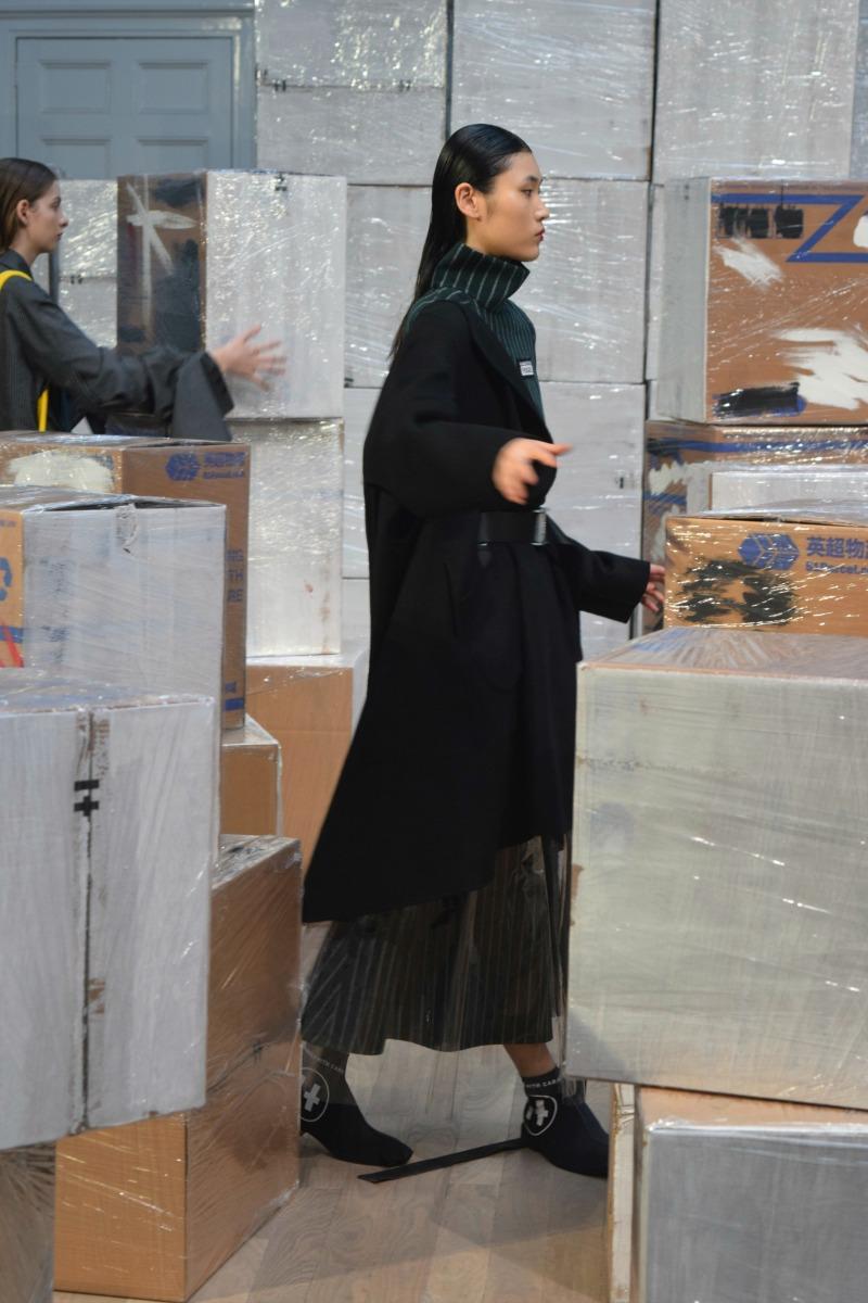 Scenes from London Fashion Week: Haizhen Wang AW17