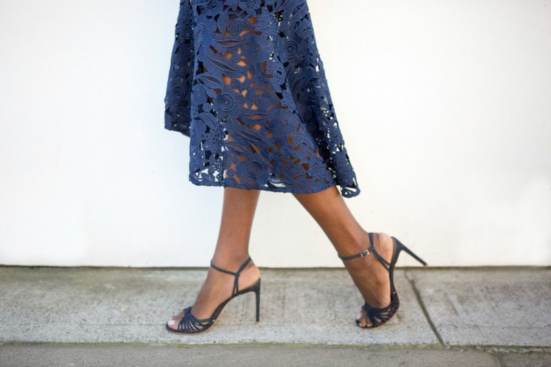 anthea crawford guipure lace dress